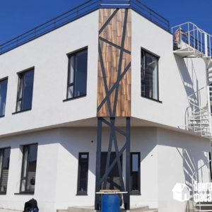 """Утепление фасада базальтовой ватой с декоративной штукатуркой под """"шубу"""""""